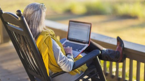 A retiree reviewing her end of year checklist