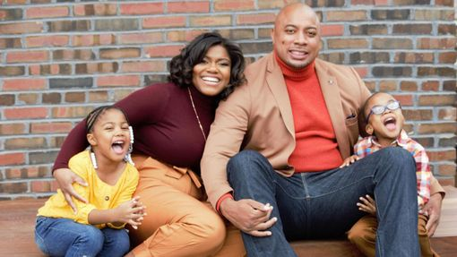 Erica Wright and family