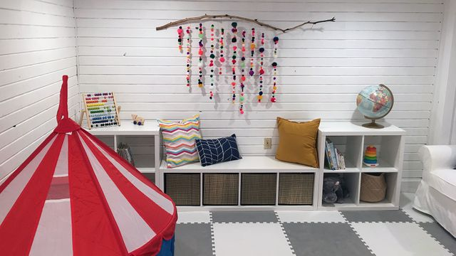 renovated kids' playroom