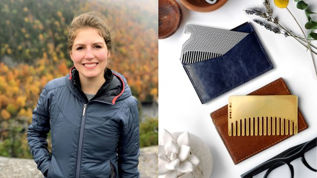 Heather Burkman and her product, the Go-Comb