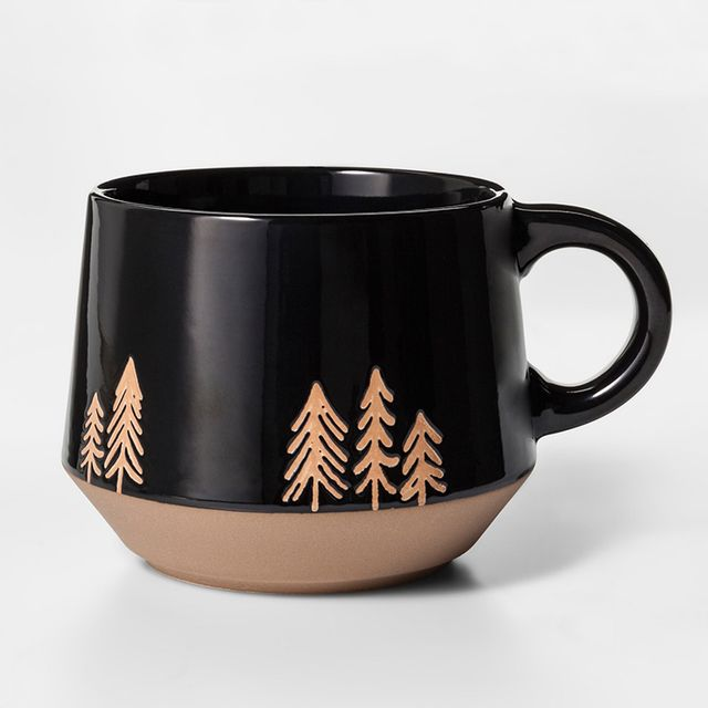 porcelain tree coffee mug