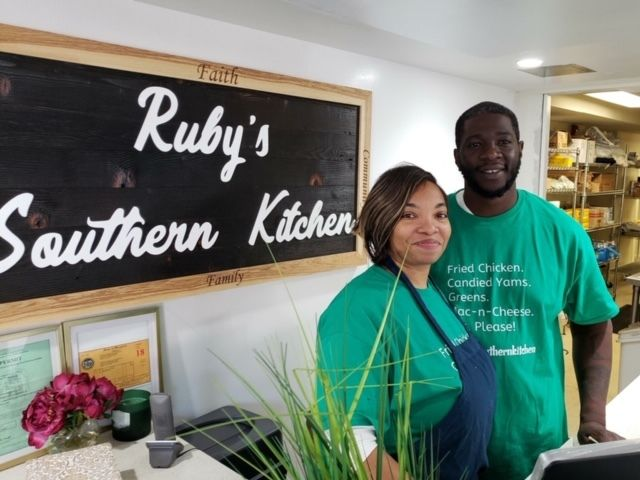 Candi and Jason Dailey at their business, Ruby's Southern Kitchen