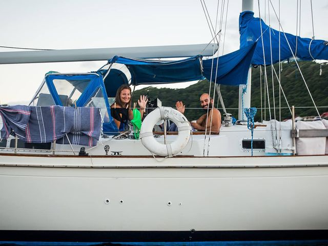 The Weisenthals on their sailboat