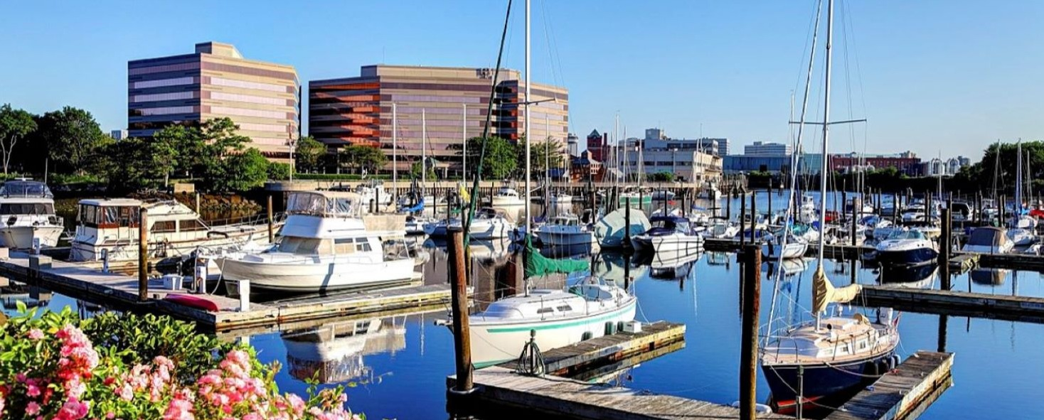 Stamford office marina city skyline