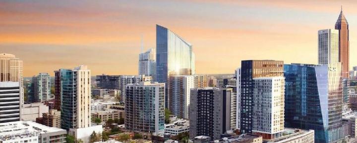 Atlanta Midtown office city buildings skyline