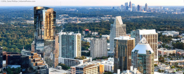 Atlanta Buckhead office city skyline