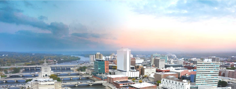 Cedar Rapids aerial view